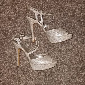 Shoes - Speckled Strapped Heels